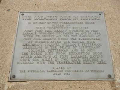The Greatest Ride in History Marker image. Click for full size.