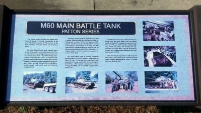 M60 Main Battle Tank Marker image. Click for full size.