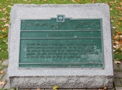 Burch's Mill Marker image. Click for full size.