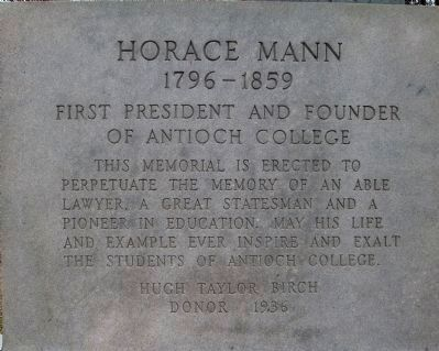 Horace Mann Memorial image. Click for full size.