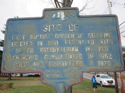 Site of First Baptist Church of Sterling Marker image. Click for full size.