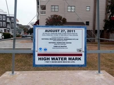 High Water Mark<br>7 Feet 11 Inches Above Mean Sea Level image. Click for full size.