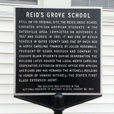 Reid's Grove School Marker image. Click for full size.