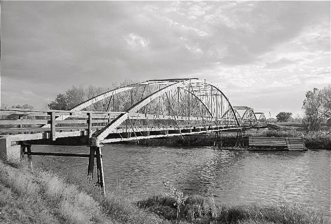 <i>Bridge from north east. - North Platte River Bowstring Truss Bridge…</i> image. Click for full size.