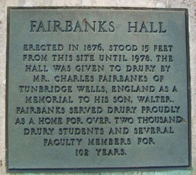 Fairbanks Hall Marker image. Click for full size.