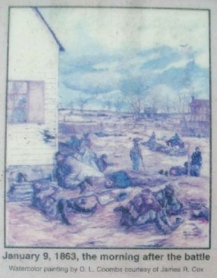 Painting on Battle of Springfield Marker image. Click for full size.