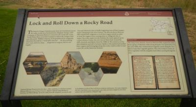 Lock and Roll Down a Rocky Road Marker image. Click for full size.
