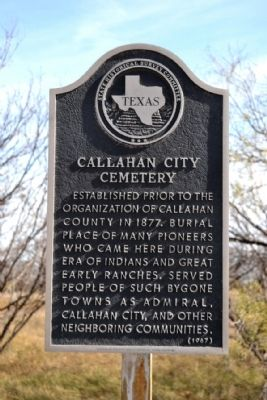 Callahan City Cemetery Marker image. Click for full size.