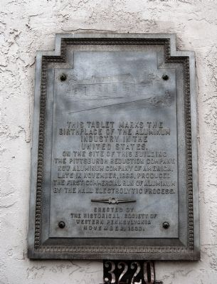Birthplace of the Aluminum Industry Marker image. Click for full size.