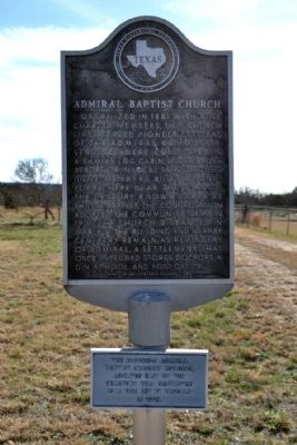 Admiral Baptist Church Marker image. Click for full size.