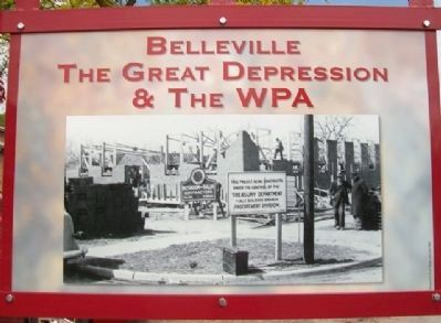 The Great Depression & The WPA Marker (Side B) image. Click for full size.