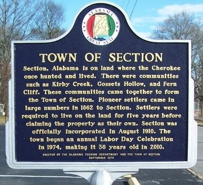 Town of Section Marker image. Click for full size.