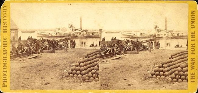 <i>Embarkation for White House, from Yorktown, Va.</i> image. Click for full size.