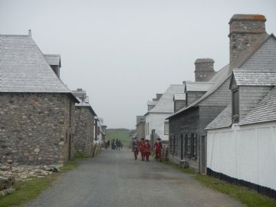 Fortress of Louisbourg (main street) image. Click for full size.