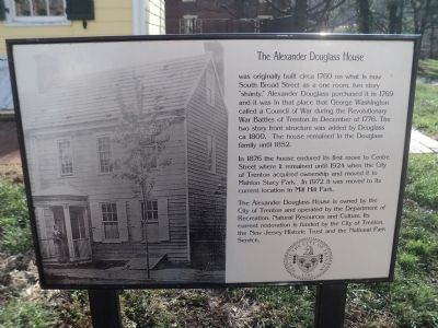 Full Alexander Douglass House Marker image. Click for full size.