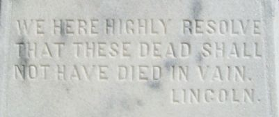Civil War Memorial Lincoln Quote image. Click for full size.