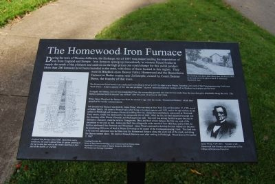 The Homewood Iron Furnace Marker image. Click for full size.