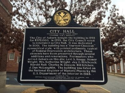Side 2 - City Hall Marker image. Click for full size.