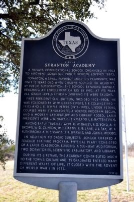 Site of Scranton Academy Marker image. Click for full size.