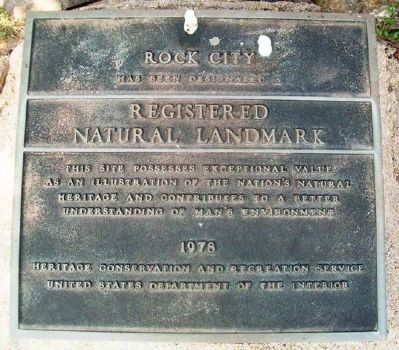 Rock City Registered Natural Landmark Marker image. Click for full size.