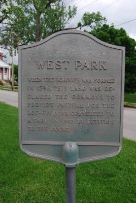 West Park Marker image. Click for full size.