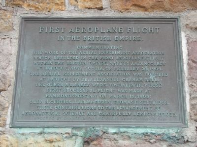 First Aeroplane Flight Marker image. Click for full size.