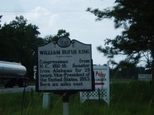William Rufus King Marker image. Click for full size.