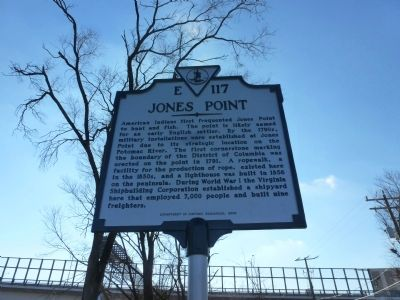 Jones Point Marker image. Click for full size.
