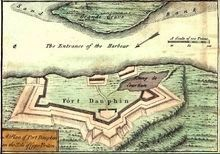 Plan of Fort Dauphin, 1755 image. Click for full size.