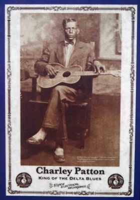 Charley Patton Birthplace Marker image. Click for full size.