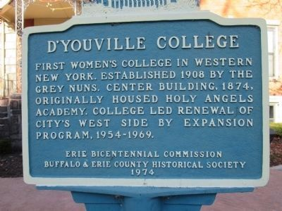 D'Youville College Marker image. Click for full size.