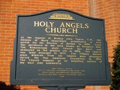 Holy Angels Church Marker image. Click for full size.