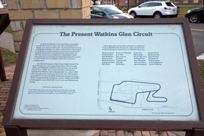 The Present Watkins Glen Circuit Marker image. Click for full size.