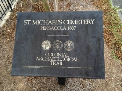 Colonial Archaeological Trail - St. Michael's Cemetery image. Click for full size.