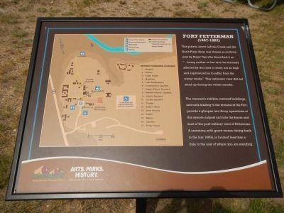 Fort Fetterman Marker image. Click for full size.