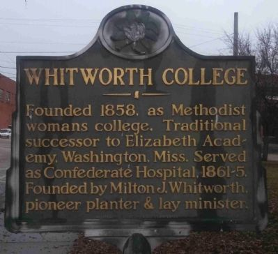 Whitworth College Marker image. Click for full size.