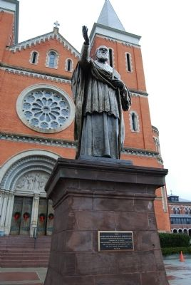 Right Reverend Boniface Wimmer, O.S. B. statue image. Click for full size.