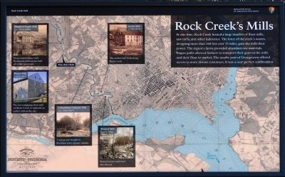 Rock Creek's Mills Marker image. Click for full size.