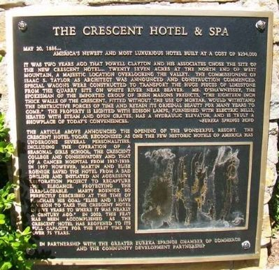 The Crescent Hotel & Spa Marker image. Click for full size.
