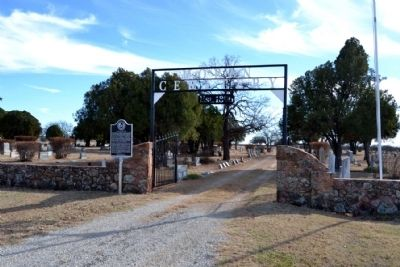 Main Entrance to Moran Cemetery image. Click for full size.