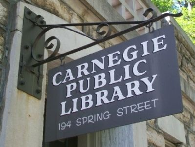 Carnegie Library Sign image. Click for full size.