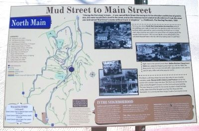 Mud Street to Main Street Marker image. Click for full size.