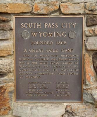 South Pass City Marker image. Click for full size.