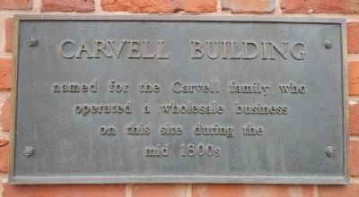 Carvell Building Marker image. Click for full size.