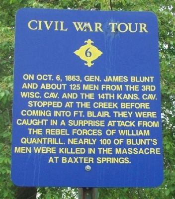 Baxter Springs Massacre Marker image. Click for full size.