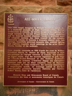 All Souls' Chapel Marker image. Click for full size.