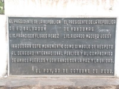 The Honduras and El Salvador Border additional marker image. Click for full size.