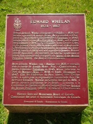 Edward Whelan Marker image. Click for full size.
