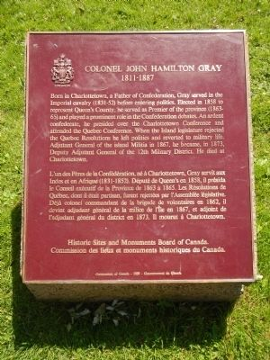 Colonel John Hamilton Gray Marker image. Click for full size.