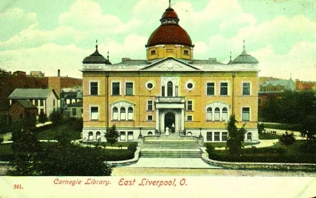 <i>Carnegie Library. East Liverpool, O.</i> image. Click for full size.